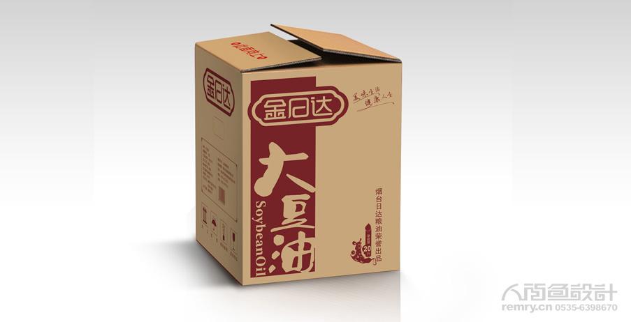 大豆油外箱設計,瓦楞紙箱包裝設計